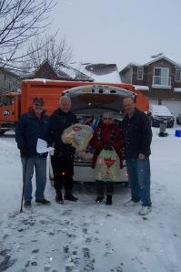 Christmas Hamper helpers 1  Dec. 2013